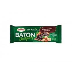 Baton Daktylowy z Orzeszkami i Kakao 40 g