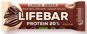 Baton proteinowy z czekoladą raw bezglutenowy BIO 47 g