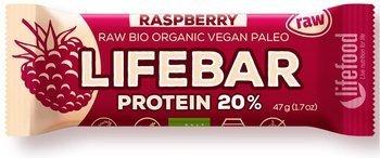Baton proteinowy z malinami raw bezglutenowy BIO 47 g