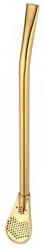 Bombilla nierdzewna złota 15,5 cm