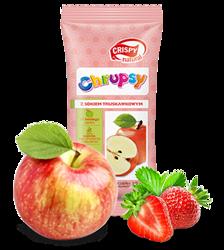 Kostki jabłka z sokiem truskawkowym Crispy Natural, 12g