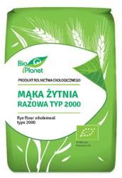Mąka żytnia razowa typ 2000 BIO 1 kg