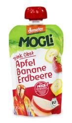Przecier jabłkowy z bananem i truskawką 100 % owoców bez dodatku cukrów demeter BIO 100 g