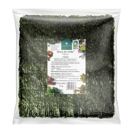 Algi morskie nori prażone do sushi BIO 15 g