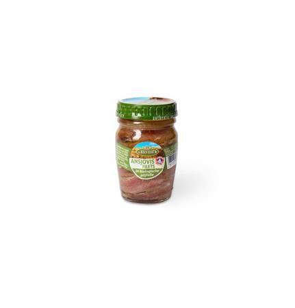 Anchois (sardele) w BIO oliwie z oliwek extra virgin 78 g