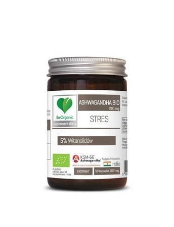 Ashwagandha ekstrakt BIO 50 kapsułek (200 mg)