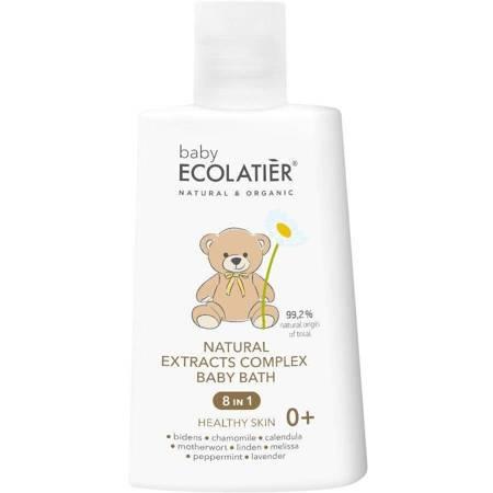 """BABY Naturalny kompleks ekstraktów 8 w 1 """"Zdrowa skóra"""" do kąpieli dzieci w wieku 0+, 250 ml ECOLATIER"""