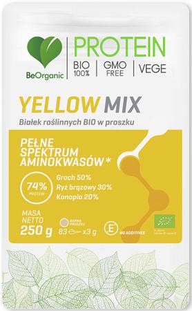 BIAŁKO ROŚLINNE YELLOW MIX W PROSZKU BIO 250 g - B