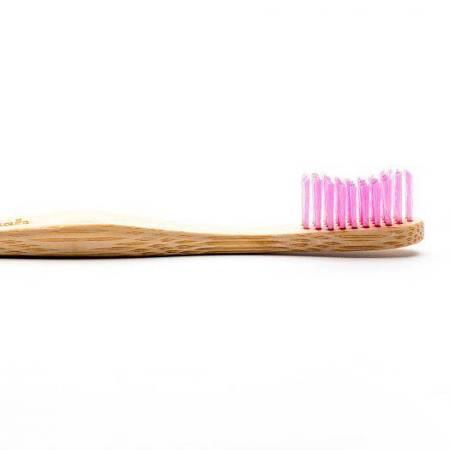 Bambusowa szczoteczka do zębów, Soft, różowa