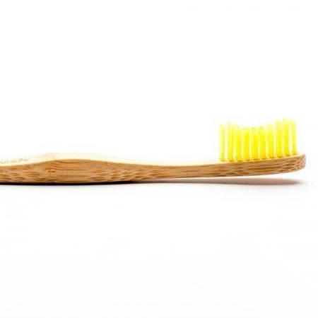 Bambusowa szczoteczka do zębów, Soft, żółta