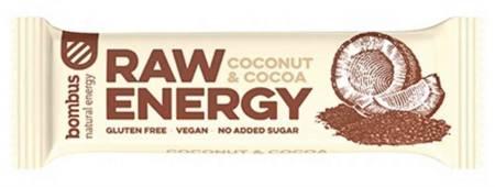 Baton RAW ENERGY kokos-kakao BEZGL. 50 g