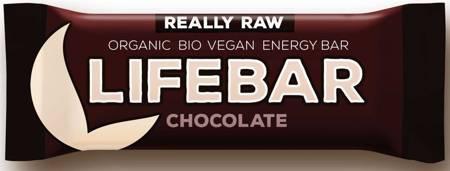Baton daktylowo - orzechowy z czekoladą  raw bezglutenowy BIO 47 g