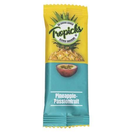 Batonik 96% ananas 4% marakuja Tropicks, 20g