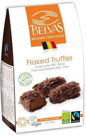 Belgijskie czekoladki trufle gorzka czekolada 72 % fair trade bezglutenowe BIO 100 g