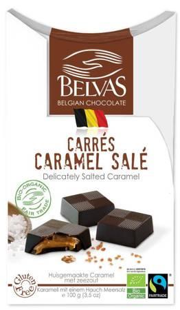 Belgijskie czekoladki z karmelem i solą fair trade bezglutenowe BIO 100 g