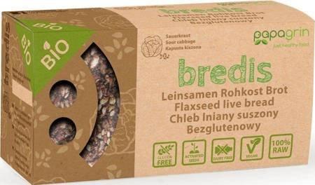 Chleb lniany suszony z kapustą kiszoną bezglutenowy BIO 70 g