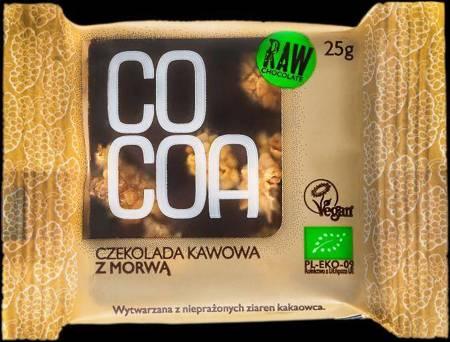 Czekolada kawowa z morwą BIO 25 g
