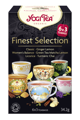 Herbatka ekspresowa finest selection (mix herbatek) BIO (6 x 3 torebki) 34,2 g