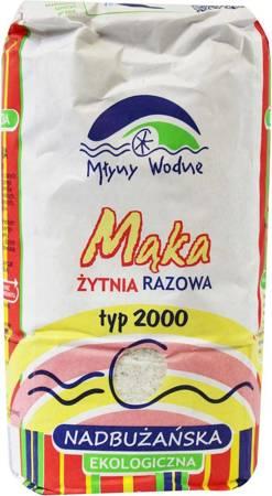 Mąka żytnia razowa nadbużańska typ 2000 BIO 1 kg