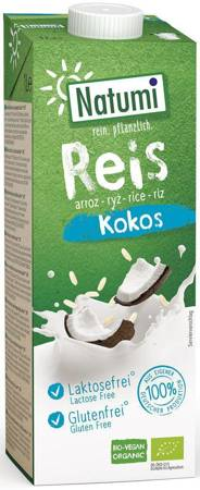 Napój ryżowo - kokosowy bez dodatku cukrów bezglutenowy BIO 1 l