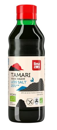 Sos sojowy tamari 25% mniej soli bezglutenowy BIO 250 ml